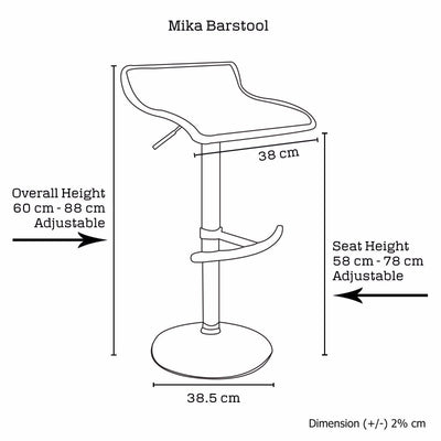 2 X Mika Barstool RED | 360HomeWare