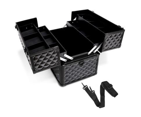 Portable Cosmetic Beauty Makeup Case - Diamond Black | 360HomeWare