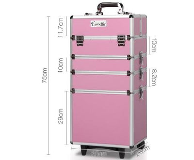 7 in 1 Portable Cosmetic Trolley - Pink | 360HomeWare