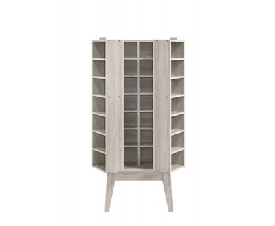 Storage Cabinet With Hidden Compartment In White Oak | 360HomeWare