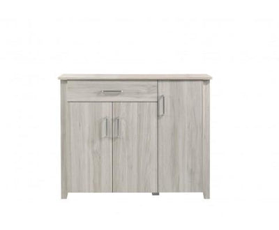 Large Shoe Cabinet With Drawer In White Oak | 360HomeWare