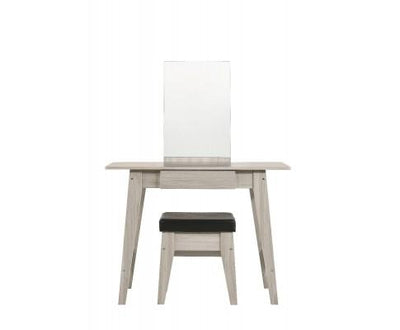 Dressing Table With Stool In White Oak | 360HomeWare