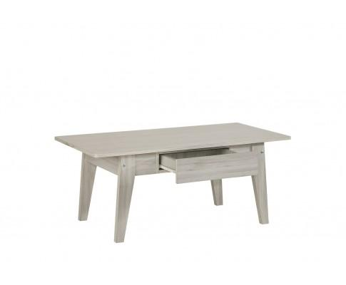 Scandinavian Coffee Table With Drawer In White Oak | 360HomeWare