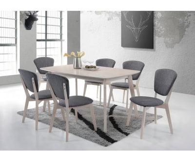 Dining Table Solid hardwood White Wash (Capacity: 6 seater) | 360HomeWare