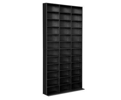 Adjustable Book Storage Shelf Rack Unit - Black | 360HomeWare