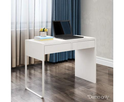 Computer Desk with 2 Drawers White | 360HomeWare