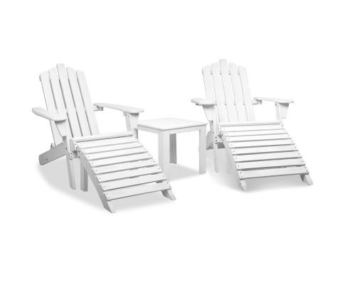 5 Piece Outdoor Beach Set - White | 360HomeWare