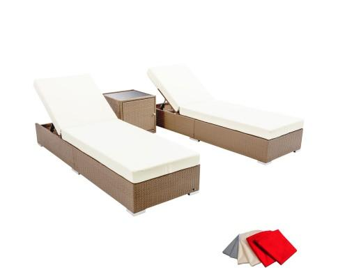 3 Piece Outdoor Wicker Lounge Set - Brown | 360HomeWare