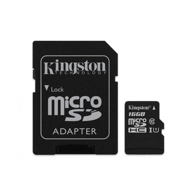 KINGSTON SDCS-16GB microSDHC Canvas Select 80R with SD adapter | 360HomeWare