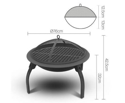 30 Inch Portable Foldable Outdoor Fire Pit Fireplace | 360HomeWare