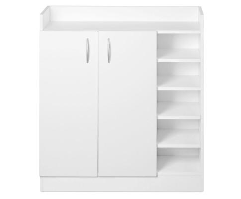 2 Doors Shoe Cabinet Storage Cupboard - White | 360HomeWare