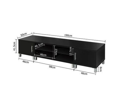 Entertainment Unit with Cabinets (Black) | 360HomeWare