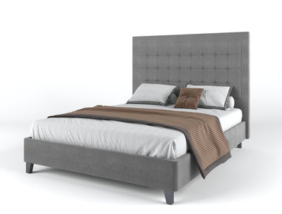 Cristina Bed Frame - Grey | 360HomeWare