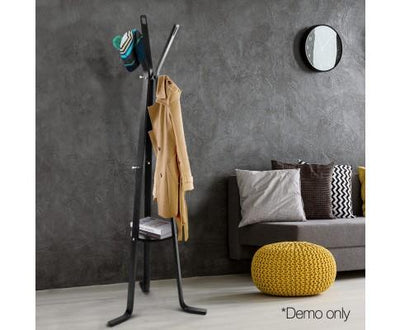 Wooden Coat Hanger Stand (Black) | 360HomeWare