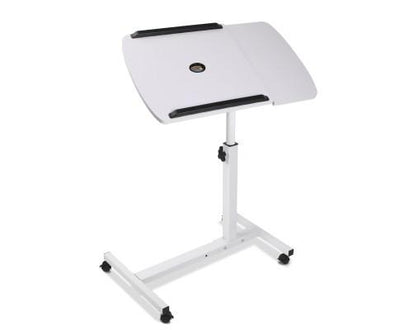 Adjustable Computer Stand with Cooler Fan - White | 360HomeWare