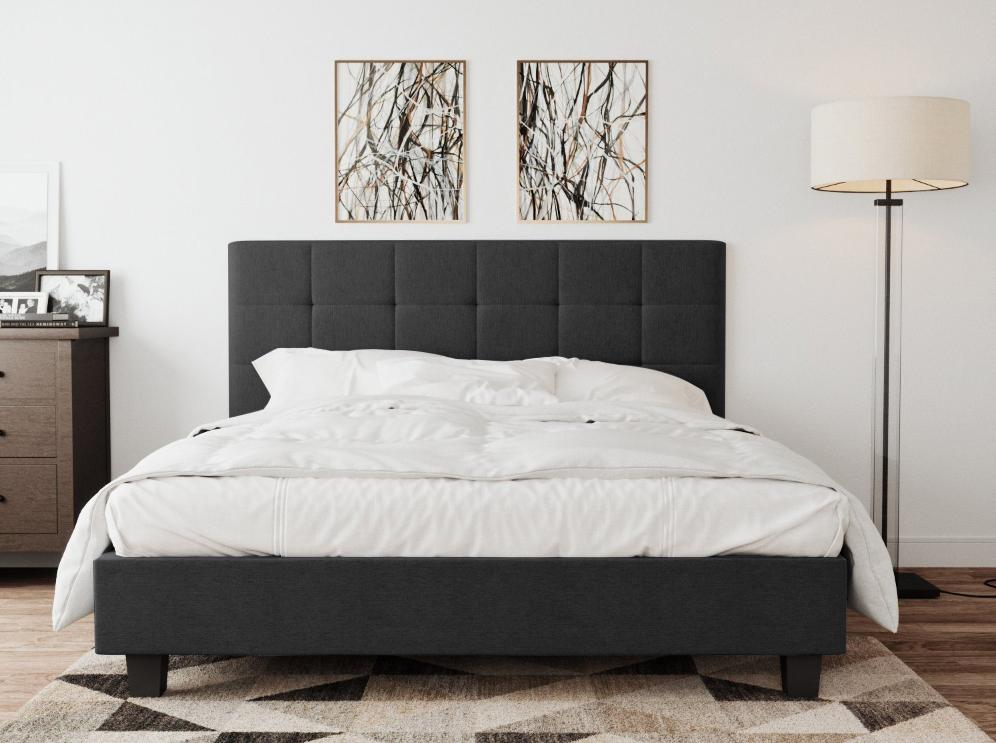 Soro  Bed Frame - Charcoal | 360HomeWare