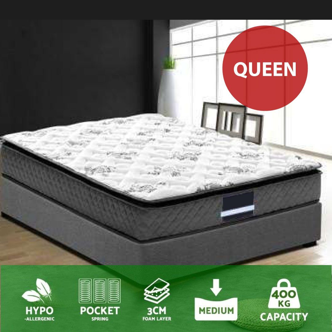 Queen Size Pillow Top Foam Mattress | 360HomeWare