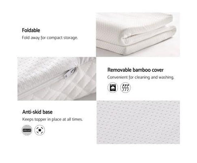 Memory Foam Mattress Topper 8cm | 360HomeWare