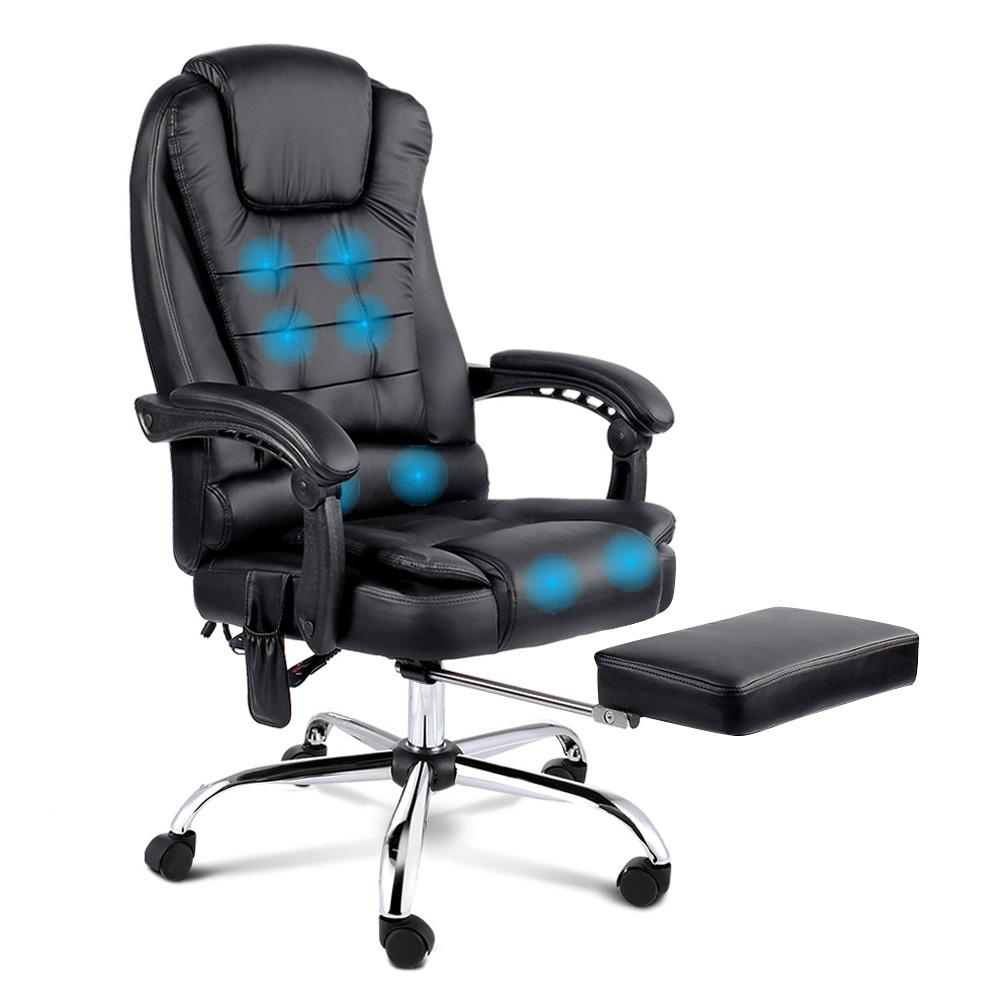 8 Point Reclining Massage Chair - Black | 360HomeWare