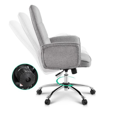 Fabric Office Desk Chair - Grey | 360HomeWare