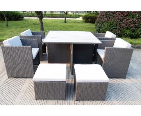 9 Piece Rattan Dining Set | 360HomeWare