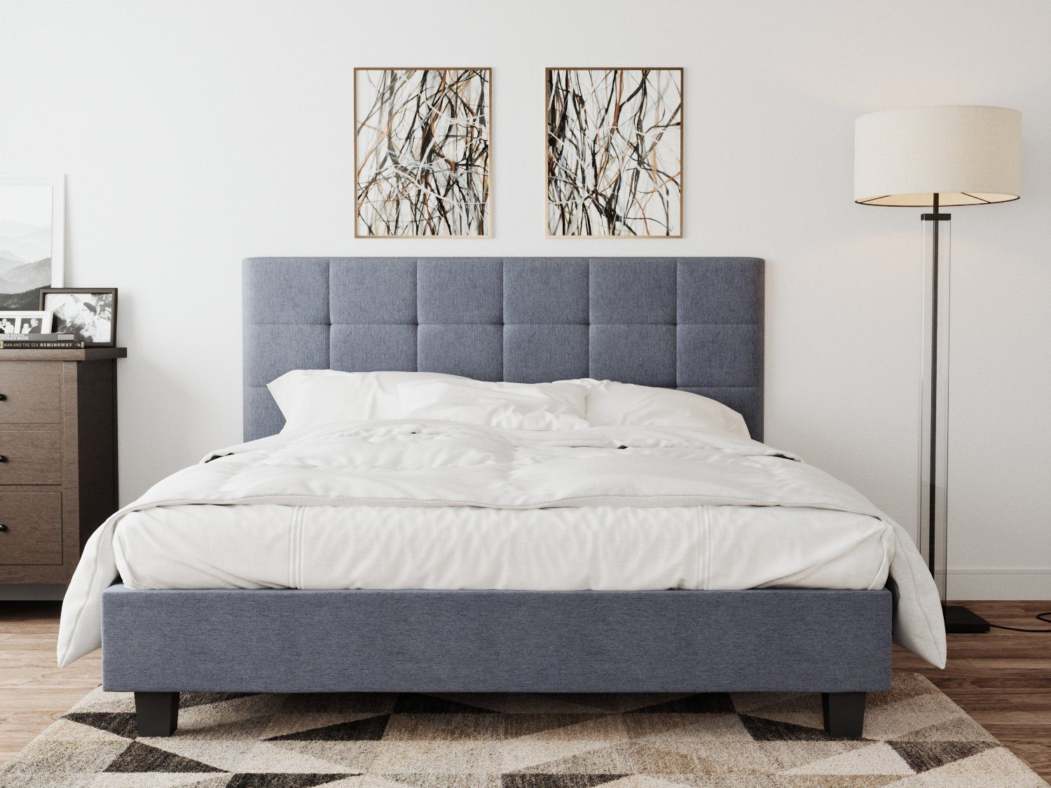 Soro King Size Bed Frame - Grey | 360HomeWare