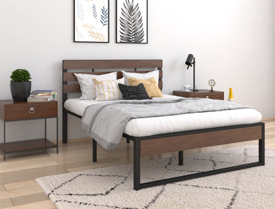 Oro Wooden and Metal Bed Frame | 360HomeWare
