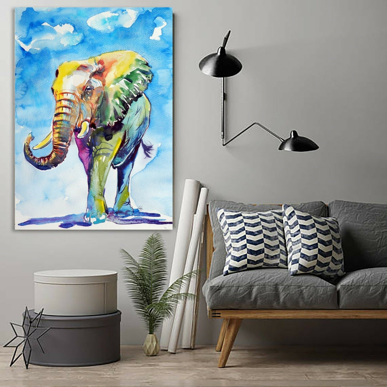 The Rainbow Elephant Canvas | 360HomeWare