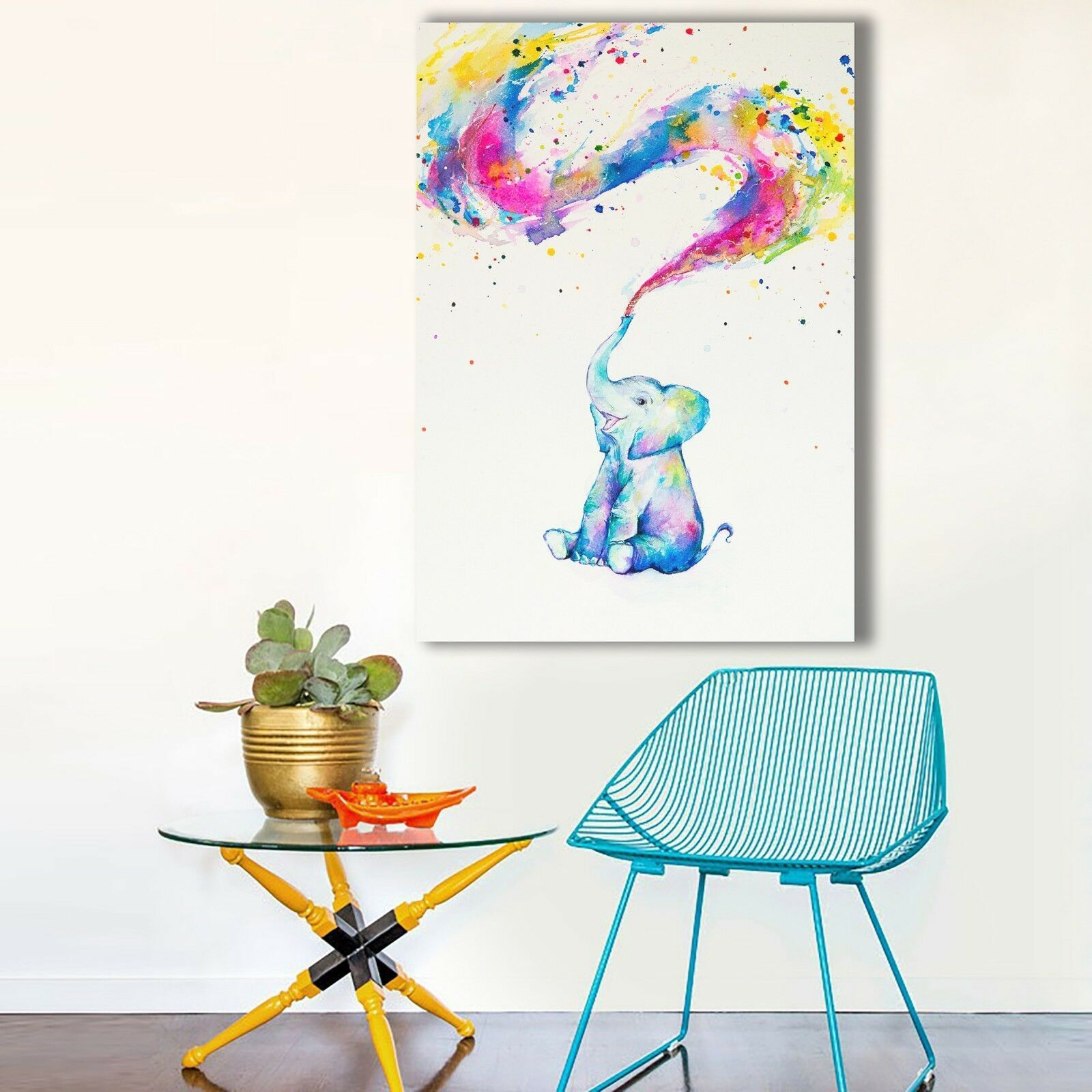 Happy Little Elephant Canvas | 360HomeWare