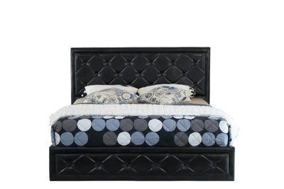 Sephora Fabric Gas Lift Bed Frame  -  Black | 360HomeWare