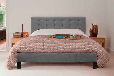 Scandinavian Grey Fabric Bed Frame | 360HomeWare
