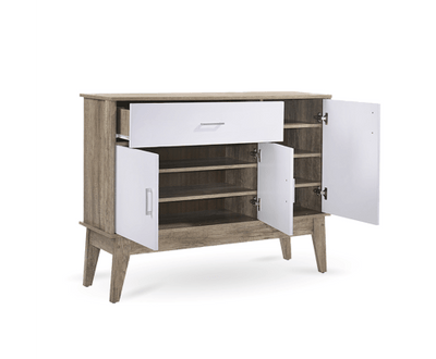 Large Shoe Cabinet Oak | 360HomeWare