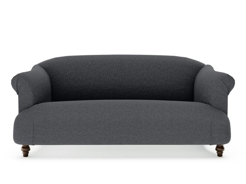 2 Seater Fabric Sofa (Charcoal) | 360HomeWare