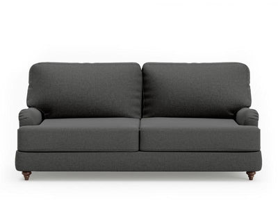 2 Seater Fabric Roll Sofa ( Charcoal) | 360HomeWare