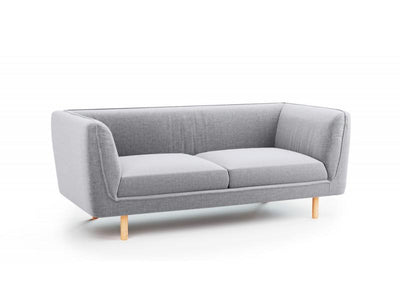 2 Seater Fabric Sofa Couch (Grey) | 360HomeWare