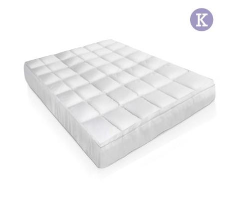 King Size Mattress Topper - Goose Feather Filling | 360HomeWare