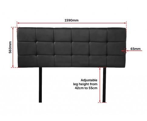 Adjustable Deluxe PU Leather Black Headboard | 360HomeWare