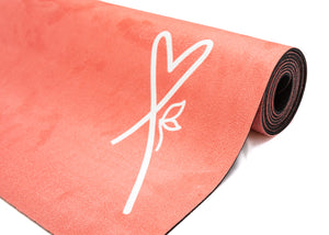 LUVe Yoga Microfibre Natural Yoga Mat - Coral Living