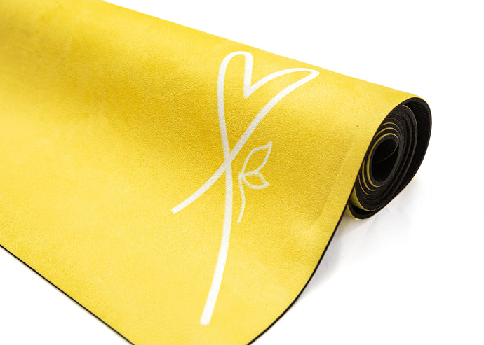 LUVe Yoga Microfibre Natural Yoga Mat - Aspen Gold