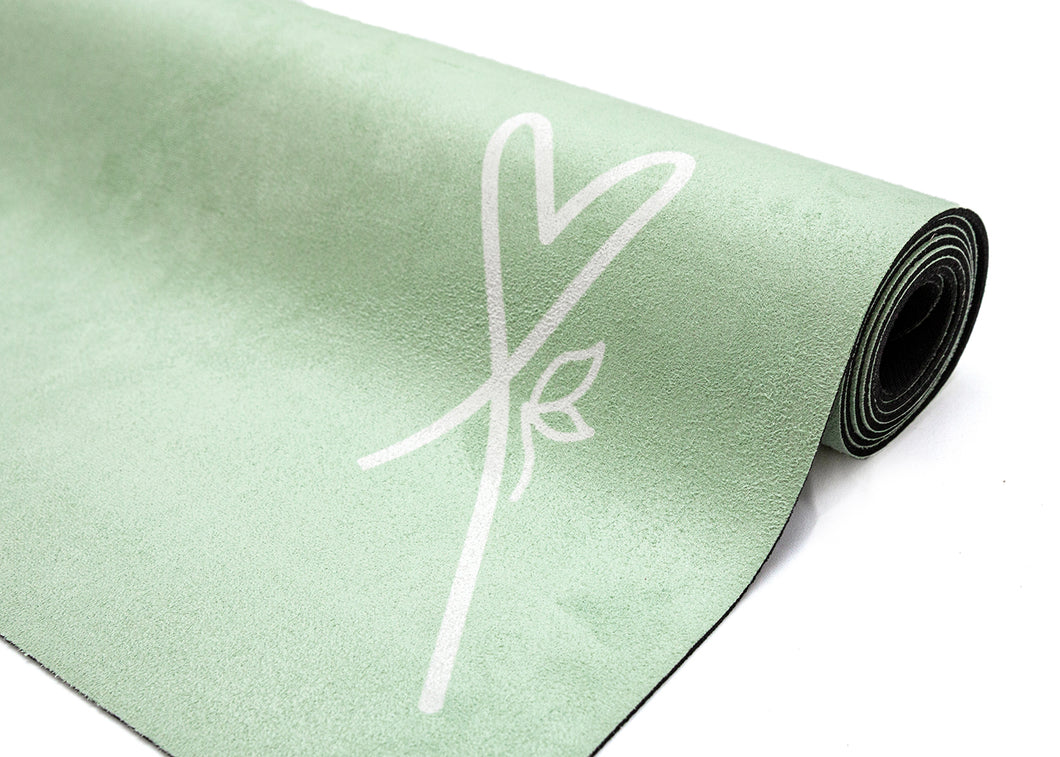 LUVe Yoga Microfibre Natural Yoga Mat - Nile Green