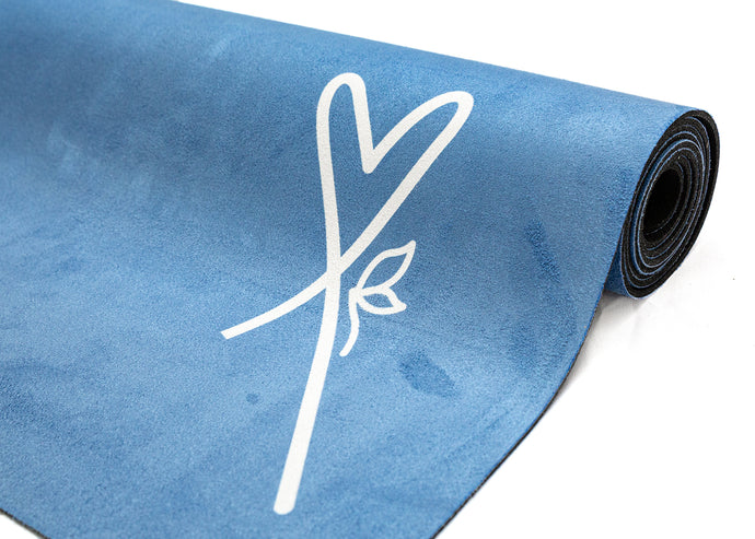 LUVe Yoga Microfibre Natural Yoga Mat - Turkish Blue