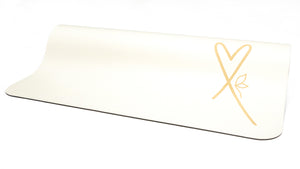 LUVe Yoga Premium Natural Yoga Mat - White
