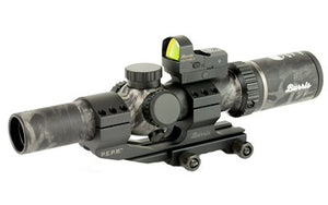 BURRIS MTAC BLACK OUT, scope and red dot, side view