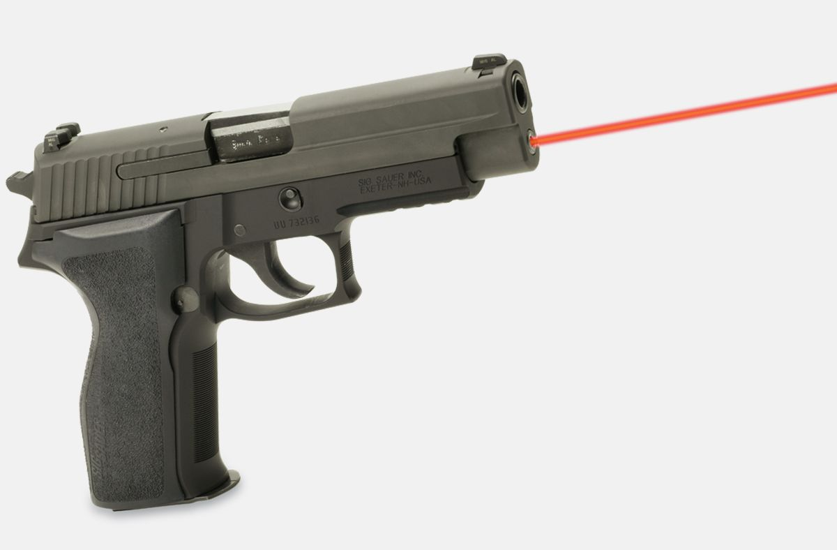 LaserMax LMS-2261 Red Laser on sig sauer p226, side view
