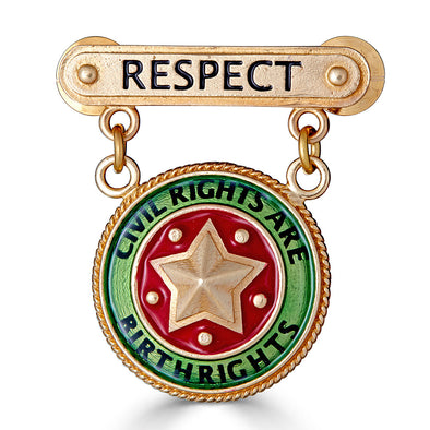 Small Respect Bar Pin with Civil Rights are Birthrights