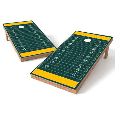 Football Field Cornhole Board Wrap Decal