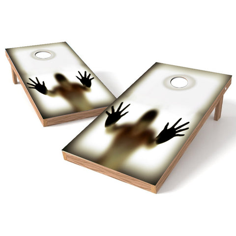 Reflection Illusion Cornhole Board Wrap Decal