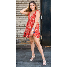 Load image into Gallery viewer, Georgia Boho Knot Shoulder Mini Dress