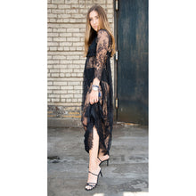 Load image into Gallery viewer, Vivorie Sheer Floral Lace Maxi Dress