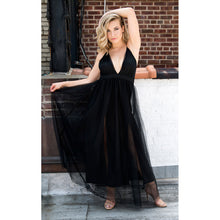 Load image into Gallery viewer, Ivy Crisscross Back Plunging Maxi Dress